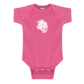 Fuchsia Infant Onesie-Sabercat Head