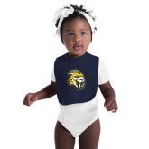 Navy Baby Bib-Sabercat Head