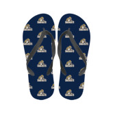 Ladies Full Color Flip Flops-Sabercat Swoosh