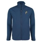 Navy Softshell Jacket-Sabercat Lunge