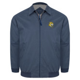 Navy Players Jacket-Sabercat Head