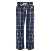 Navy/White Flannel Pajama Pant-Sabercat Head