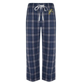 Navy/White Flannel Pajama Pant-Sabercat Lunge