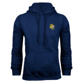 Navy Fleece Hoodie-Sabercat Head
