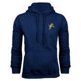 Navy Fleece Hood-Sabercat Lunge