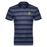 Adidas Climalite Navy Textured Stripe Polo-Sabercat Head