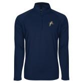 Sport Wick Stretch Navy 1/2 Zip Pullover-Sabercat Lunge