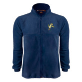 Fleece Full Zip Navy Jacket-Sabercat Lunge