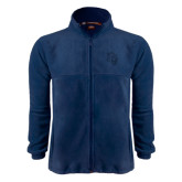 Fleece Full Zip Navy Jacket-Sabercat Head