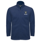Fleece Full Zip Navy Jacket-Maranatha Baptist University