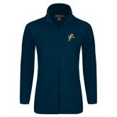 Ladies Fleece Full Zip Navy Jacket-Sabercat Lunge