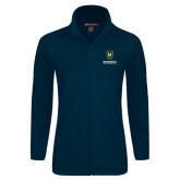 Ladies Fleece Full Zip Navy Jacket-Maranatha Baptist University