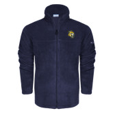 Columbia Full Zip Navy Fleece Jacket-Sabercat Head