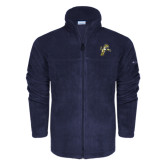 Columbia Full Zip Navy Fleece Jacket-Sabercat Lunge