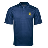 Navy Mini Stripe Polo-Sabercat Head