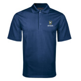 Navy Mini Stripe Polo-Maranatha Baptist University