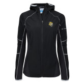 Columbia Ladies Sweet As Softshell Black Jacket-Sabercat Head
