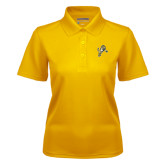 Ladies Gold Dry Mesh Polo-Sabercat Lunge