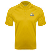 Gold Textured Saddle Shoulder Polo-Sabercat Swoosh