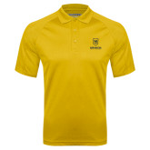 Gold Textured Saddle Shoulder Polo-Maranatha Baptist University