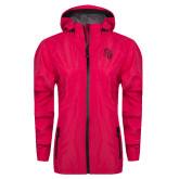 Ladies Dark Fuchsia Waterproof Jacket-Sabercat Head