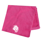 Pink Beach Towel-Sabercat Head