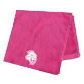 Pink Beach Towel-Sabercat Head