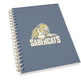 Clear 7 x 10 Spiral Journal Notebook-Sabercat Swoosh