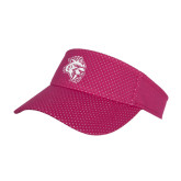 Pink Athletic Mesh Visor-Sabercat Head