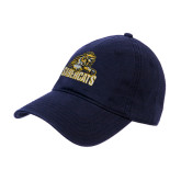 Navy Twill Unstructured Low Profile Hat-Sabercat Swoosh