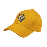 Gold Heavyweight Twill Pro Style Hat-Sabercat Head