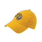 Gold Flexfit Unstructured Low Profile Hat-Sabercat Head