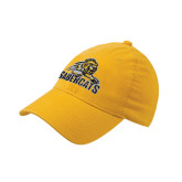 Gold Flexfit Unstructured Low Profile Hat-Sabercat Swoosh