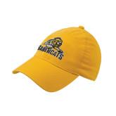 Gold Flexfit Mid Profile Hat-Sabercat Swoosh