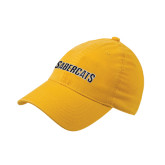 Gold Flexfit Unstructured Low Profile Hat-Sabercats Word Mark