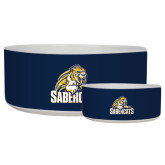 Ceramic Dog Bowl-Sabercat Swoosh