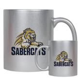 11oz Silver Metallic Ceramic Mug-Sabercat Swoosh