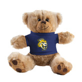 Plush Big Paw 8 1/2 inch Brown Bear w/Navy Shirt-Sabercat Head
