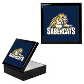 Ebony Black Accessory Box With 6 x 6 Tile-Sabercat Swoosh