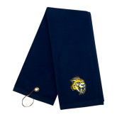 Navy Golf Towel-Sabercat Head