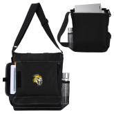 Impact Vertical Black Computer Messenger Bag-Sabercat Head