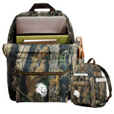 Heritage Supply Camo Computer Backpack-Sabercat Head