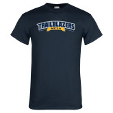Navy T Shirt-Wordmark
