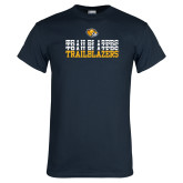 Navy T Shirt-Trailblazers Repeating