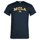 Navy T Shirt-Arched MCLA