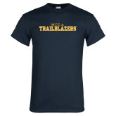 Navy T Shirt-MCLA Trailblazers