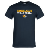 Navy T Shirt-Volleyball Workmark