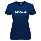Ladies Navy T Shirt-MCLA