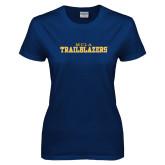 Ladies Navy T Shirt-MCLA Trailblazers