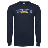 Navy Long Sleeve T Shirt-Wordmark